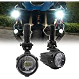 40W LED Auxiliary light Super Bright Fog Driving Light For Motorcycle BMW R1200GS F800GS K1600 KTM HONDA (40W/Flood/BM3)