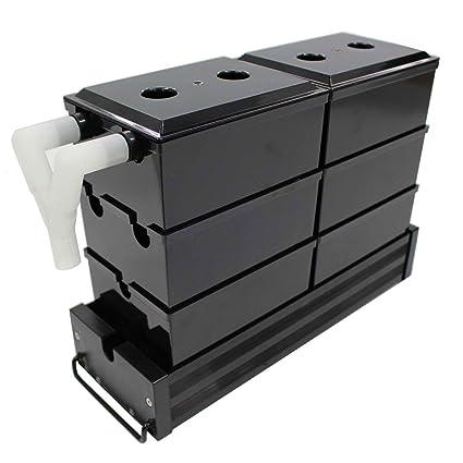 Acuarios Eco exterior Trickle Caja Sistema de filtro Filtro exterior Buzón transparente negro acrílico para 40. Pasa ...