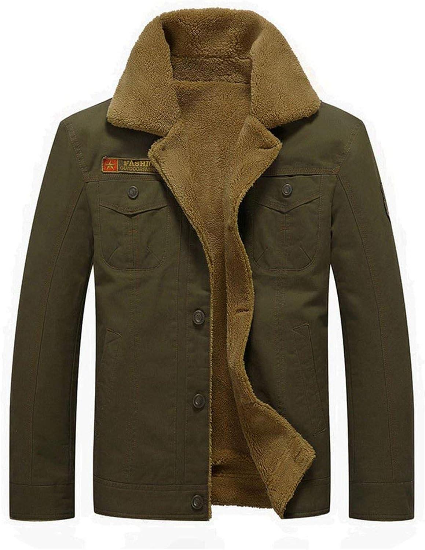 New Vetement Femme Fashion Men Autumn Winter Warm Casual Pocket Button Thermal Jacket Top Coat