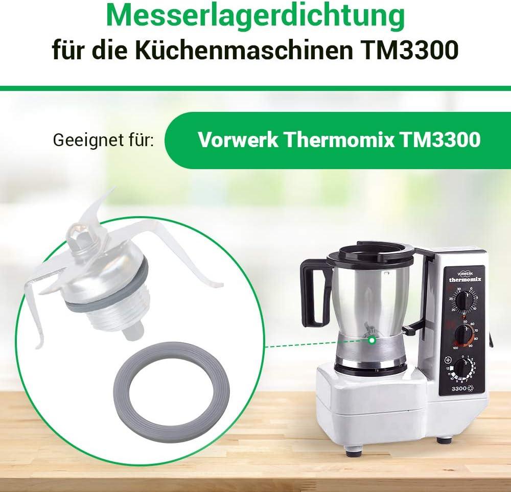 Junta de repuesto para máquina de cocina Vorwerk Thermomix TM3300 TM 3300, diámetro de 38/29 mm: Amazon.es: Hogar