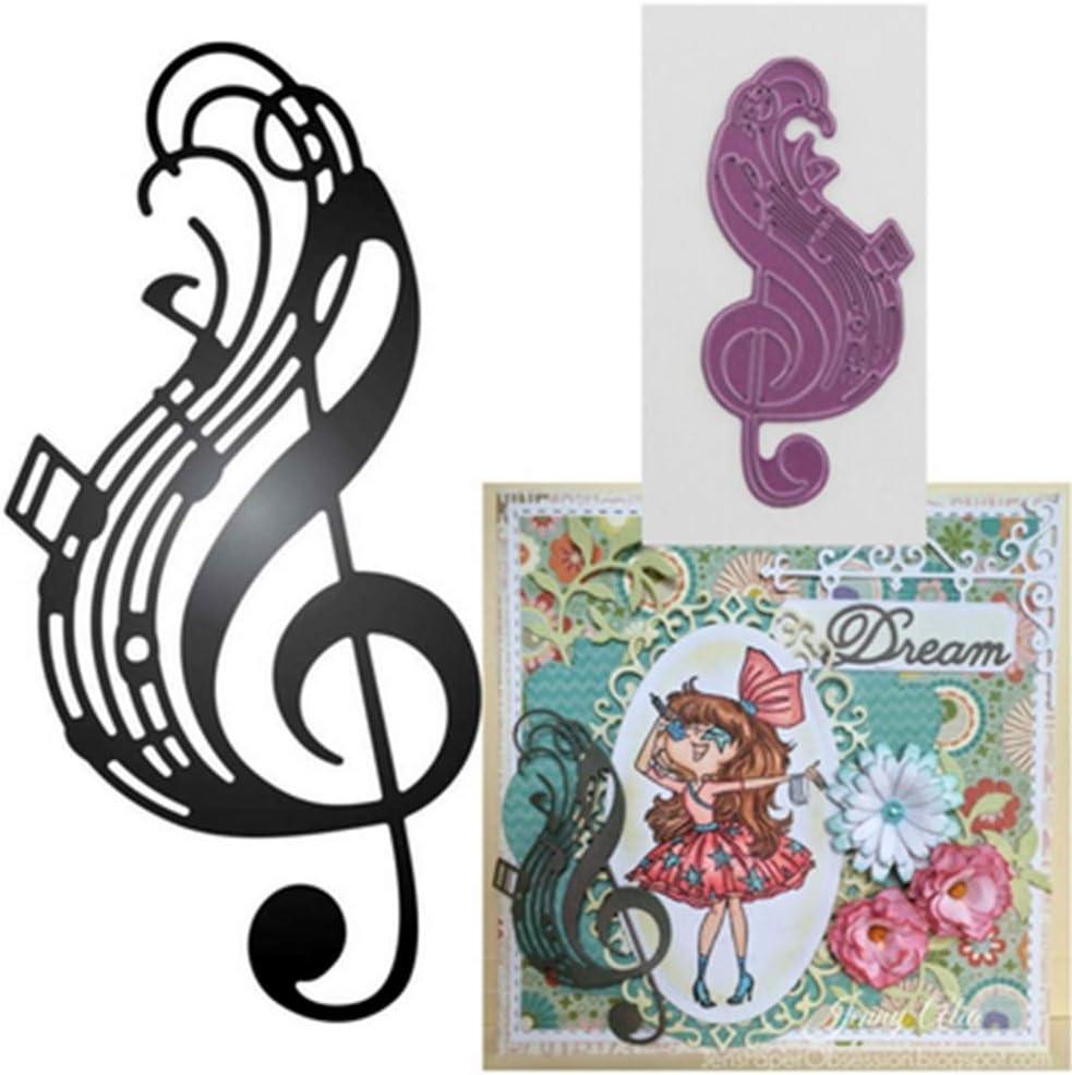 Music Symbol Metal Cutting Dies Stencil for Scrapbooking Album Paper Craft