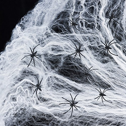 YIYEE Halloween Spider Webs Stretchable (250 Square Feet)