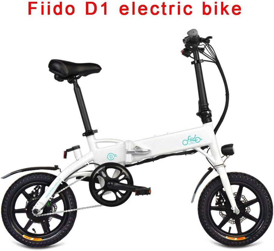 FIIDO Bicicletas Electricas Adulto, Plegable Ebike con 10.4ah Litio Batería, hasta 25 Km/h Carretera Bicicleta por Ciclismo Viaje Conmutar (Blanco): Amazon.es: Deportes y aire libre