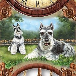 Linda Picken Sweet Schnauzers Cuckoo Clock - By The Bradford Exchange