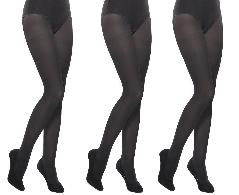 School plain black opaque girl's tights multipacks Aurellie 3 PACK