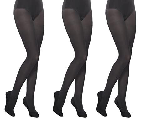 41f7eb48e2e63 School plain black opaque girl's tights multipacks Aurellie 3 PACK (15-16  years)