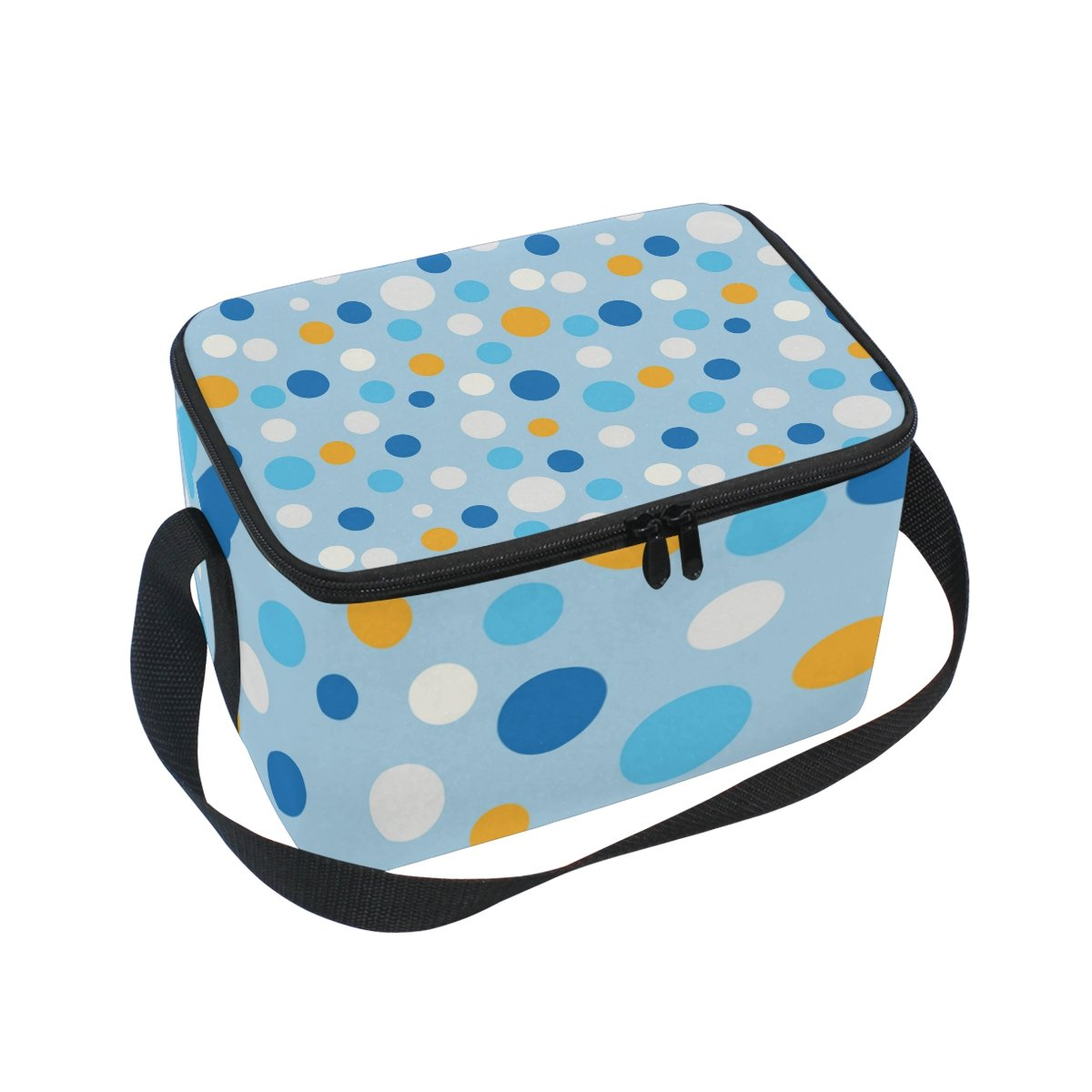 e4d89a8e68b1 Amazon.com: Lunch Bag Colorful Dot Square Tote Bag Picnic Travel ...