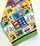 Baby Boy Crib Quilt Handmade Trucks Cars Bikes Nursery Bedding