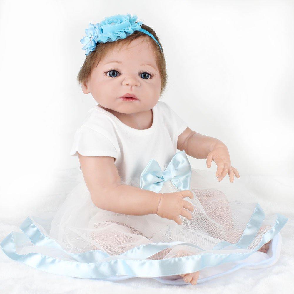 Garantía 100% de ajuste Meinv-Rebirth-doll 22 Pulgadas simulación muñeca niña Juguete Renacimiento muñeca Silicona Silicona Silicona de Alto Grado Adecuada (06 años) Regalo de cumpleaños del bebé  garantizado