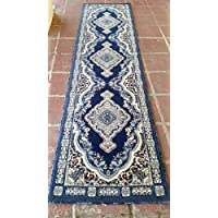 Traditional Persian Long Runner Rug Dark Blue Design 520 (31 inch X 15 feet 8 inch)