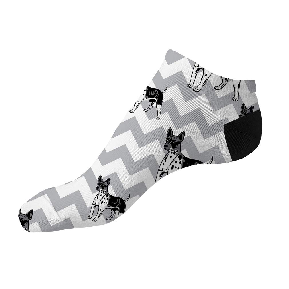 American Hairless Terrier Dog Pattern #6 Men-Women Adult Ankle Socks