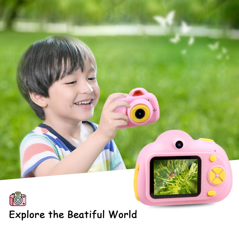 SHCY Best Gift for 3-8 Year Old Kids, Kids Camera for Girls, Outdoor Toys for 4-7 Year Old Girls Boys Children,8MP HD Video Camera, Pink(32GB SD Card Included) by SHCY (Image #5)