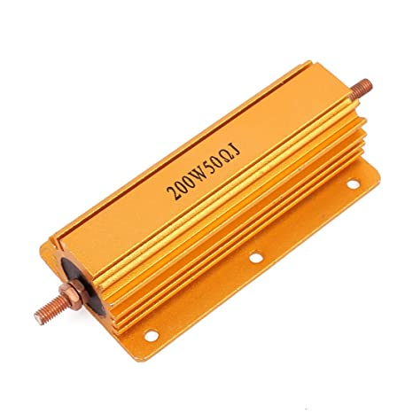 uxcell/® Gold Tone Aluminum Housed Casing Resistor 4.5 Ohm 5/% 10W