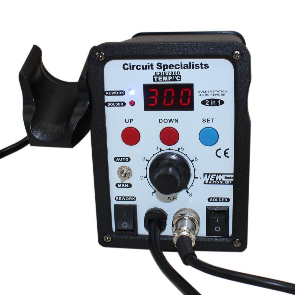 Csi 8786d Digital Hot Air Rework Station 50 Watt Solder Iron Esd Here At Printed Circuits Electronic Repairs We Pride Ourselves In Safe Uk Co Diy Tools