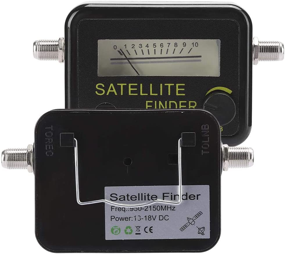 Professional Digital Satfinder LNB to REC Connector Sensitive Signal Strength Meter Satellite Locators Bewinner1 Universal Satellite Finder Digital TV Satellite Signal Receiver