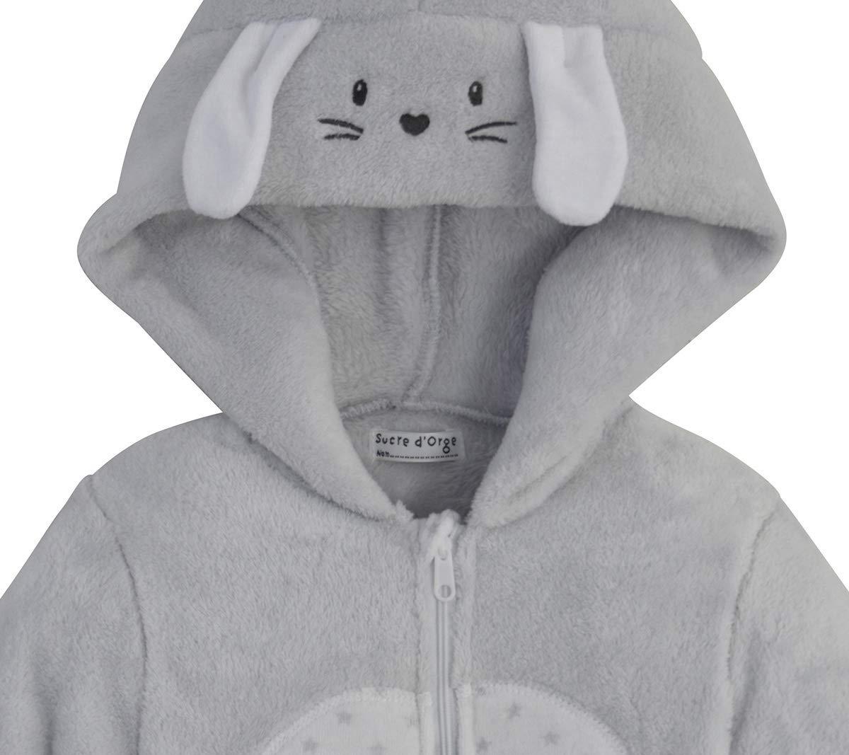 6b7552dfe9be4 Sucre D Orge - sleepwear - Mixte - 1 - surpyjama lapin - Taille 6 Mois -  Couleur Gris  Amazon.fr  Bébés   Puériculture