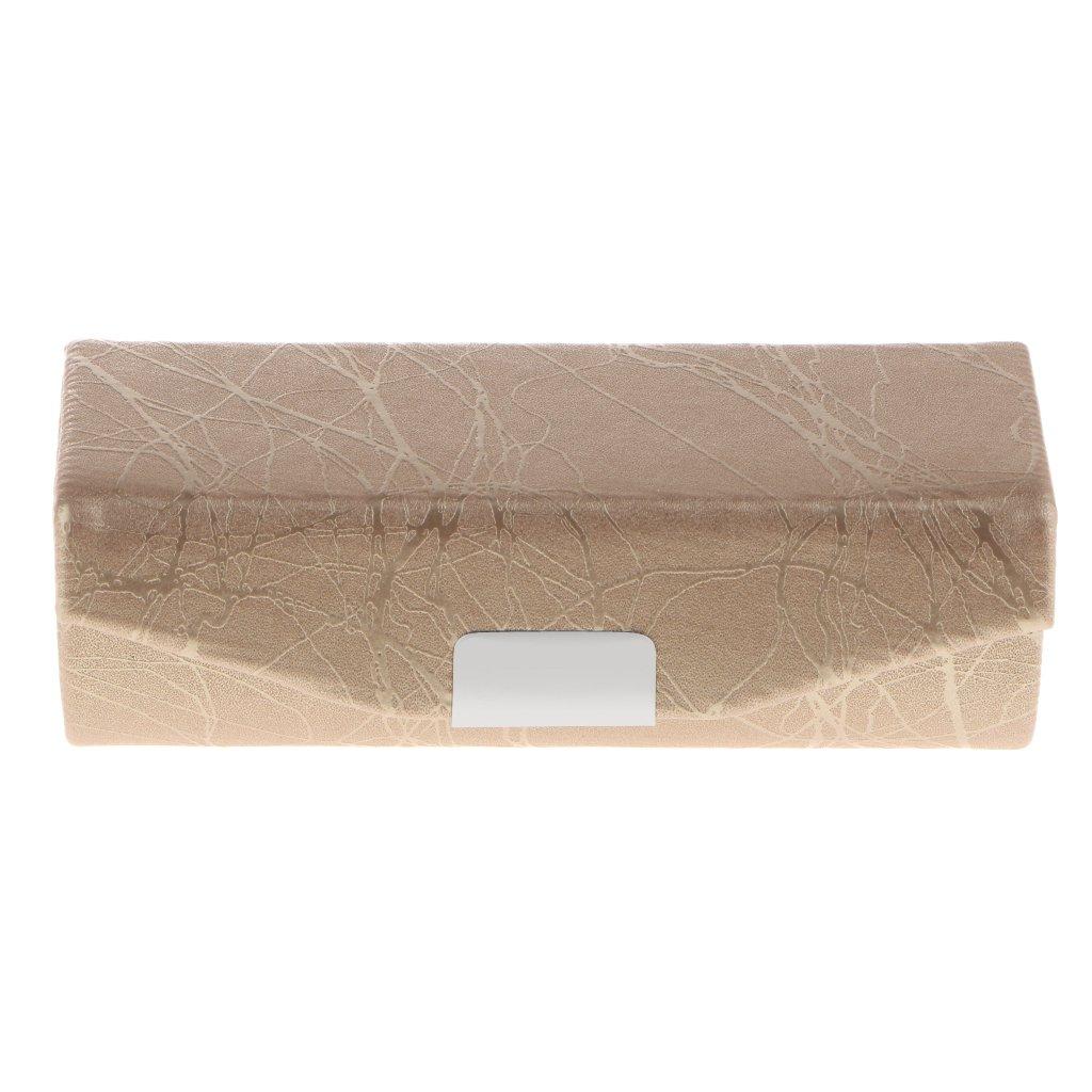 B Baosity Lippenstiftetui Lippenstift Box mit Spiegel und Druckknopfverschluss, Fein Design - Grün Fein Design - Grün