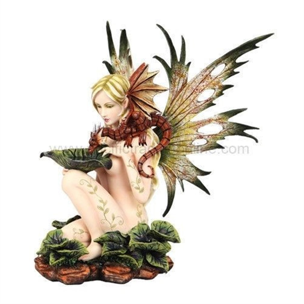 Amazon.com: Ky & Co YesKela Nude Naked Fairy and Baby Dragon Playing  Figurine Fantasy Magic Decorative Faery: Home & Kitchen