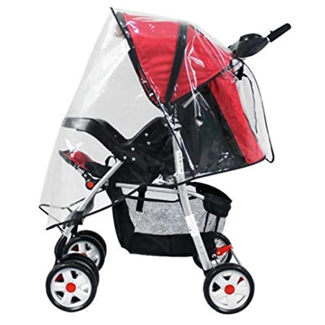 jooks Protector de lluvia para carrito cochecito de la persiana Blackout enrollable cochecito lluvia se adapta a todos los cochecitos y carritos claro