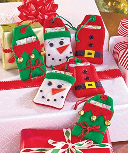 Christmas Felt/Like Gift Card Holders (Set of - Ave Place 5th