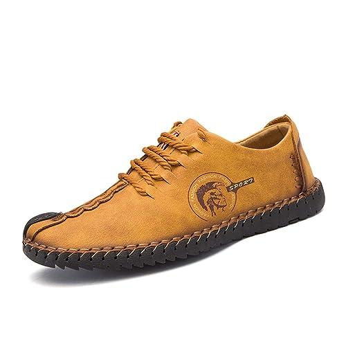 Hombre Sandalias Mocasines Cuero Zapatos Deporte Senderismo Trekking Transpirable Verano Oxford: Amazon.es: Zapatos y complementos