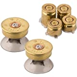 Metal Bullet Buttons for Xbox One Controller, Replacement Parts Bullet Thumbsticks Analog Joystick & A B X Y Buttons Set Mod