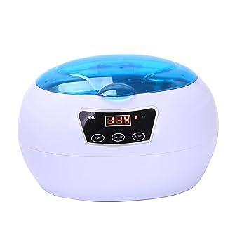 CAHAYA Limpiador Ultrasónico Equipo de Limpieza por Ultrasonidos con Temporizador para Dentaduras, Gafas, Cepillos