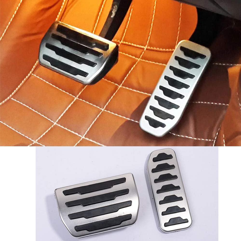 Cubierta de aleación de aluminio para pedal de freno de combustible de coche, 2 unidades, para Discovery Sport 2015-2019, para Rangerover Evoque 2012-2019, para XE F-Pace X761Car Accessories