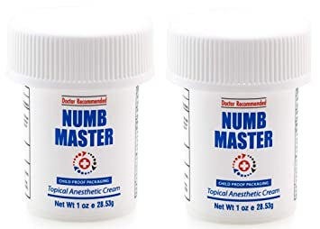 (2-Pack) Numb Master Topical Anesthetic Liposomal Lidocaine Cream, Made  in