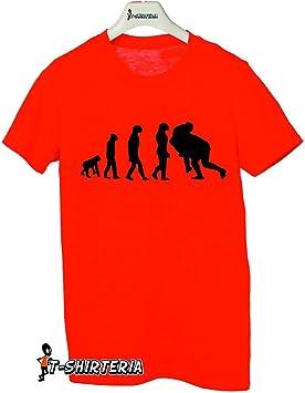 Camiseta Humor Evolution rugby, deporte, evolución – Tallas para hombre y mujer by tshirteria, rojo, Medium (5-6 años): Amazon.es: Deportes y aire libre