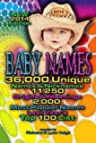 BABY NAMES - 2014 Edition, Richard Voigt, Lynn Voigt, 1940961122