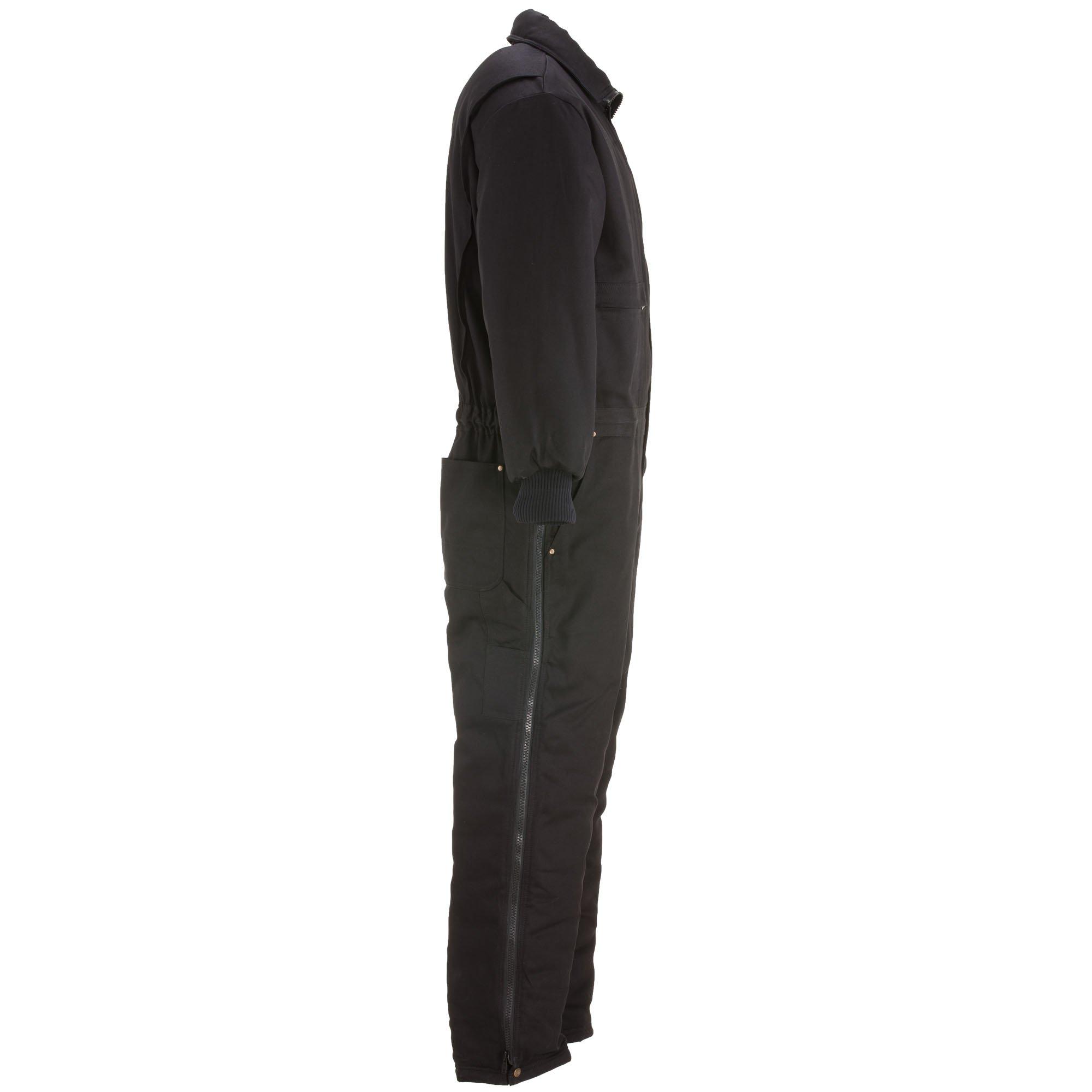 RefrigiWear Men's Water-Resistant Insulated Denim Comfortguard Coveralls (Black, XL) by RefrigiWear (Image #4)