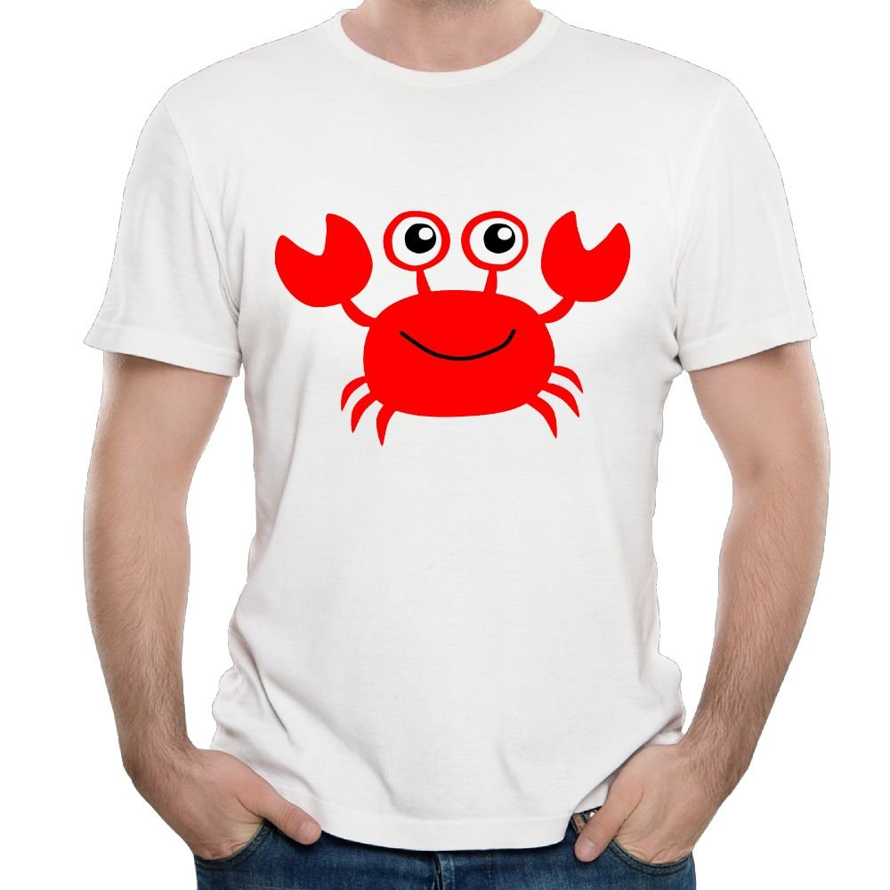 Han S Happy Crab Casual Style Tennis T Shirt Short Sleeve
