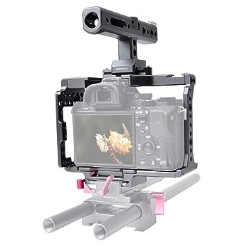Jaula de liberación rápida para cámara con asa Superior para Sony ...