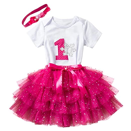 ElevinTM Toddler Dresses Birthday Party Baby Girl 1 Years Old Newborn Short Sleeve