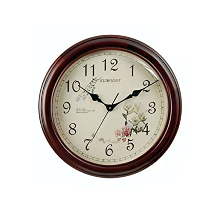 wood wall clock simple quiet wall clocks creative retro clock bedroom clock b diameter35 - Bedroom Clock