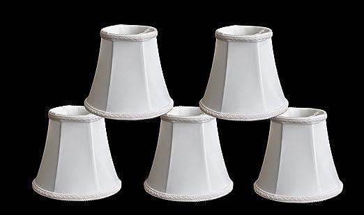 Urbanest 1100465b Set of 5 Chandelier Lamp Shades 3x5x45 Bell – White Chandelier Shade