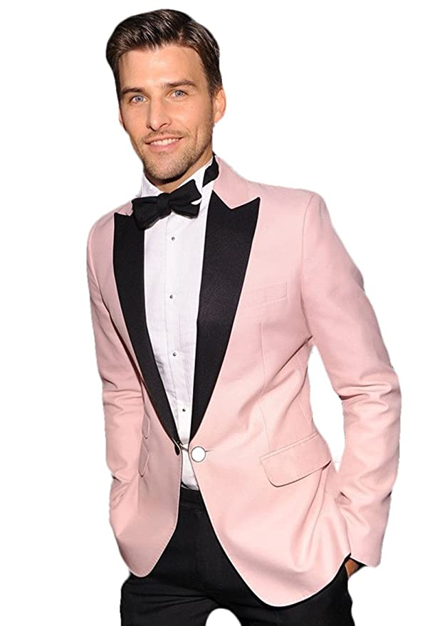 Amazon.com: 2018 humo boda trajes esmoquin Bailes rosa ...