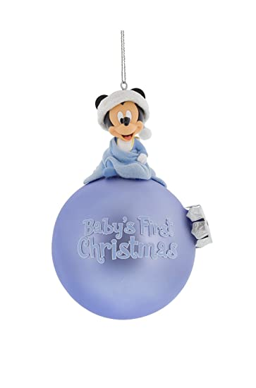 Amazon.com : Disney First Christmas Mickey Mouse Ornament Baby ...