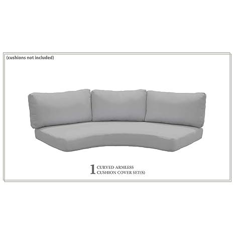 Amazon.com: TK Classics Fundas para cojines de sofá curvados ...