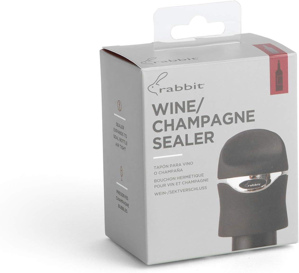 Velvet Black Rabbit Champagne and Wine Sealer