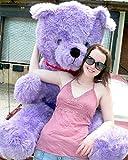 American Made Giant 6 Foot Purple Teddy Bear Big Plush Bear Made in