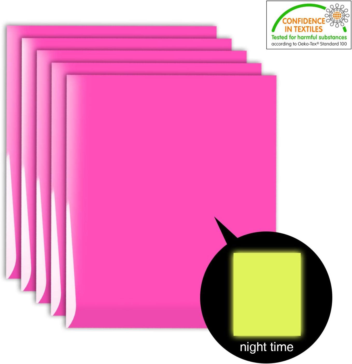 7colors Glow in the Dark Heat Transfer Vinyl Iron on T-shirt Vinyl DIY Press