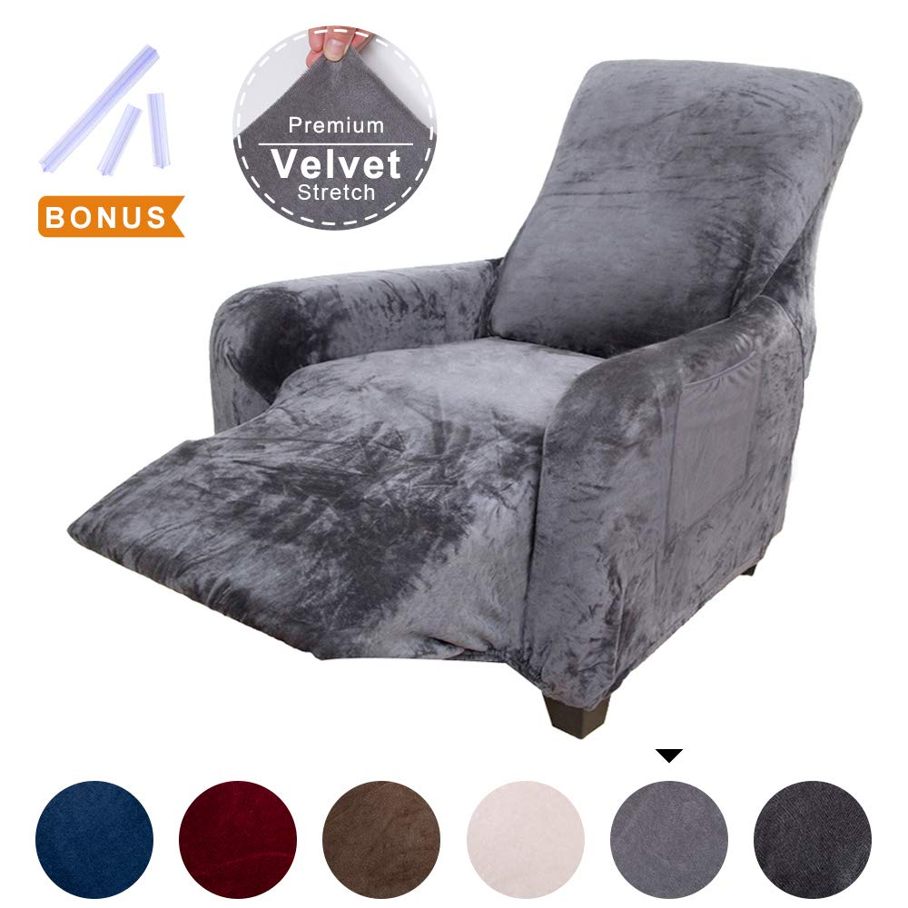 Pleasant Acomopack Sofa Cover For 3 Cushion Couch Velvet Stretch Couch Cover Recliner Chair Cover Couch Slip Covers For Furniture Sofa Loveseat Cover Protector Creativecarmelina Interior Chair Design Creativecarmelinacom