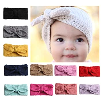 Amazoncom Yfstyle Baby Toddler Crochet Headbands With Rabbit Ear