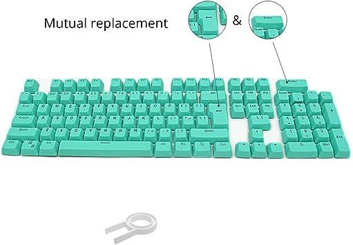 Orange Wireless Mouse Keyboard Standard Layout Keyboard 104 Keys Double Shot PBT Backlit Keycaps for Mechanical Keyboard New Bluetooth Color : Blue