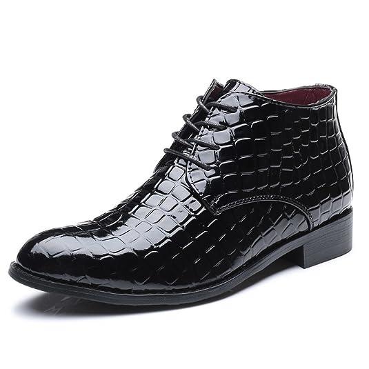 Botines para Hombre Moda Charol Zapatos de Cordones: Amazon.es: Zapatos y complementos