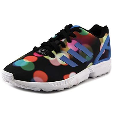 7b291d29bf04e adidas ZX Flux (Photo Print) in Black/Blue/White Mens, 13