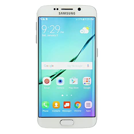 Samsung Galaxy S6 Edge SM-925V 64GB White Smartphone for Verizon (Renewed)