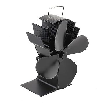 ... Negro Estufa de Calor Ventilador Ventilador Estufa de Ahorro de Energía Ventilador Estufa de Leña de Madera Estufa Ventilador: Amazon.es: Coche y moto